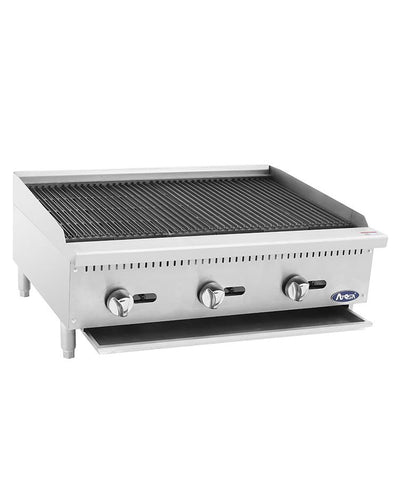 ATOSA Grill: HD 36-in Char-Rock Broiler - 105,000 BTU NG/LP - ATCB-36