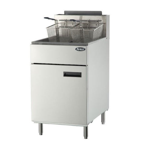 ATOSA HD 75lb SS Deep Fryer, NG/LP (ATFS-75)