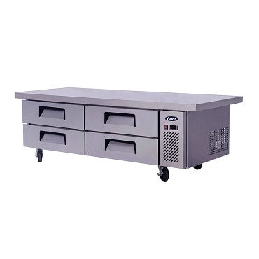 "ATOSA Chef Base: 76-in Chef Base 27""H w/5-in Casters MGF8454GR"