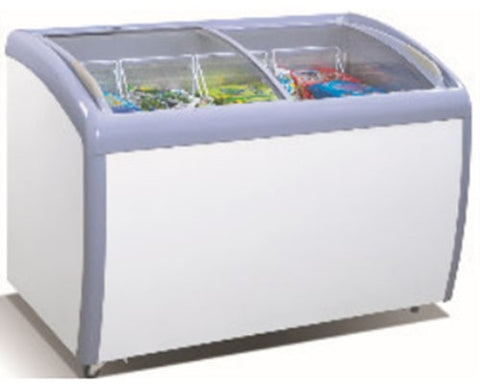 ATOSA Freezer Chest: 52-in Angle Curved Top Chest Freezer 12 CuFt