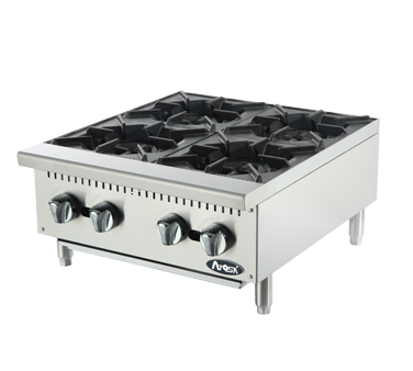 ATOSA HD 24-in 4-Burner Hotplate, Total 128,000 BTU - NG/LP - ACHP-24
