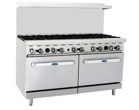 "ATOSA Range: 60-in Gas Range 10-Burner/Two 26"" Ovens - ATO-10B"