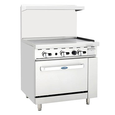 "ATOSA Range: 36-in Gas Range 36"" Griddle and 36"" Oven - ATO-36G"