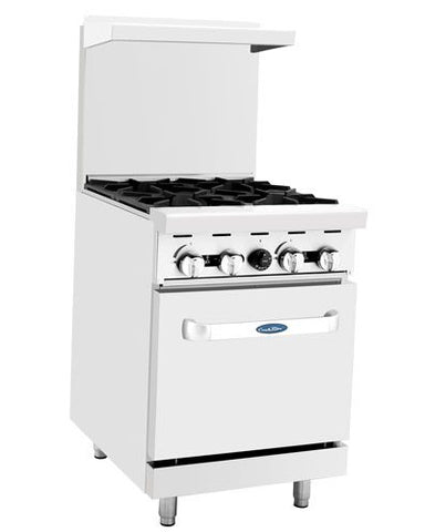 "ATOSA Range: 24-in Gas Range with 4-Burner and 20"" Oven - ATO-4B"