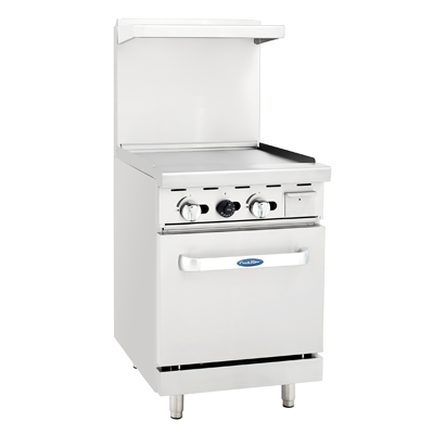 "ATOSA Range: 24-in Gas Range 24"" Griddle and 20"" Oven - NG/LP - ATO-24G"