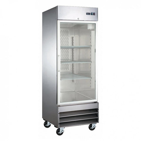 "Coldline CFD-1RR-G-HC 27"" Single Glass Door Reach-In Refrigerator"