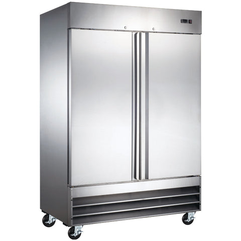"Coldline CFD-2RR-HC 54"" Double Solid Door Reach-In Refrigerator - 47 Cu. Ft."