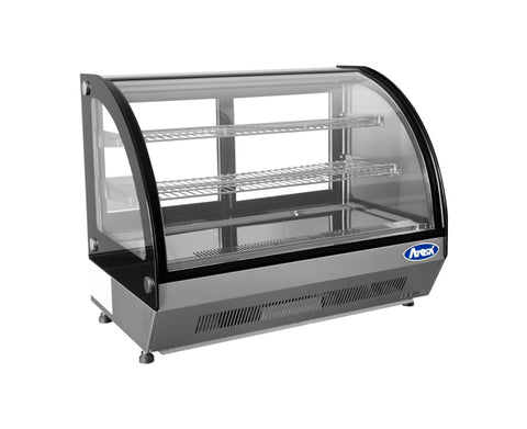 ATOSA C/T Curved Glass Refrigerated Display, 3.5CuFt, 28x22x27 CRDC-35