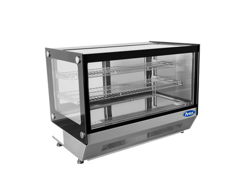 ATOSA C/T Square Glass Refrigerated Display, 4.2CuFt 28x22x27 CRDS-42