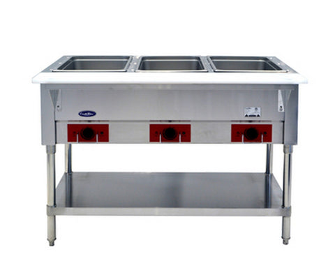 "ATOSA 48"" Electric 3-Well Dry Steam Table, 1500W/120V - CSTEA-3B"