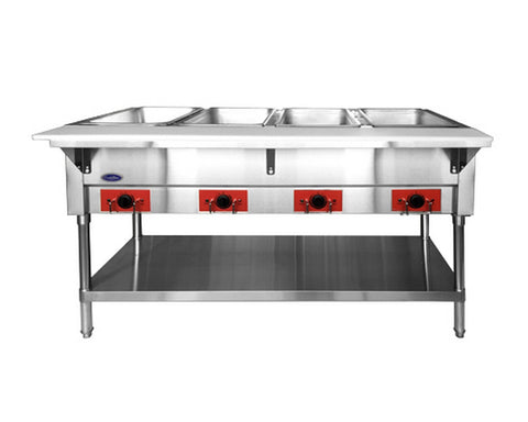 "ATOSA 60"" Electric 4-Well Dry Steam Table, 2000W/120V - CSTEA-4B"