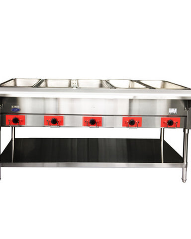 "ATOSA 72"" Electric 5-Well Dry Steam Table, 3750W/220V - CSTEB-5B"