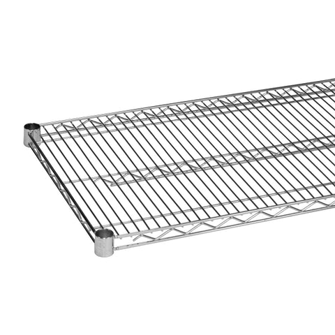 QUANTUM Single Wired Shelf for Shelving Kit, 800lb, NSF, CHROME, 1yr