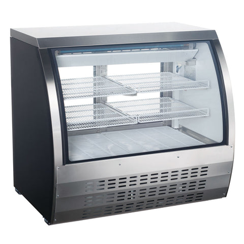 "Coldline DC120SS-HC 48"" Curved Glass Deli Display Case, Stainless Steel"
