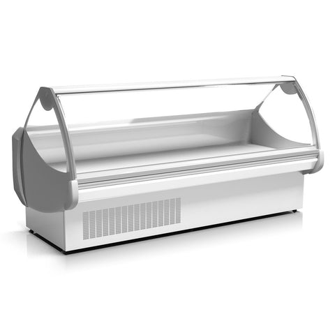 "Coldline EDC78 78"" Refrigerated Lift-Up Curved Glass Display Case"