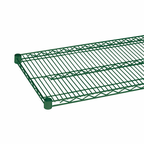 QUANTUM Single Wired Shelf for Shelving Kit, 800lb, NSF, GREEN EPOXY, 15yr