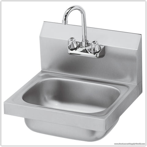 "16"" Commercial Stainless Steel Hand Sink"