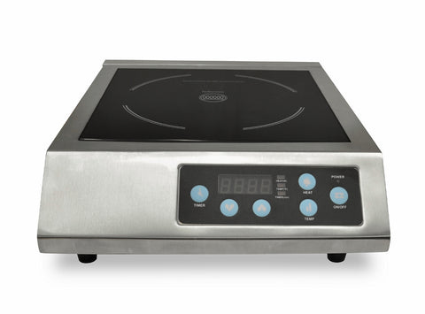 EURODIB S/S Heavy Duty Induction Burner - 220v IHE3097-240