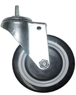 "5"" Screw-In Casters for Wire Shelving (Set of 4, Non-Locking) PLCB5"