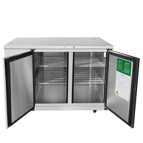 "ATOSA 48"" Back Bar Cooler Stainless Steel Solid Door, 48Wx28Dx40H MBB48"