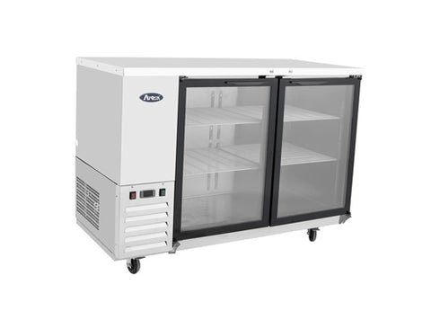 "ATOSA 59"" Back Bar Cooler, Stainless Steel Glass Door MBB59G - FREE SHIPPING"