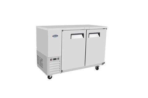 "ATOSA 59"" Back Bar Cooler, Stainless Steel Solid Door, 58Wx28Dx40H MBB59"