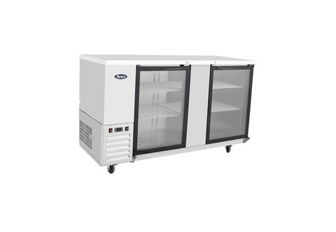 "ATOSA 69"" Back Bar Cooler, Stainless Steel Glass Door MBB69G - FREE SHIPPING"