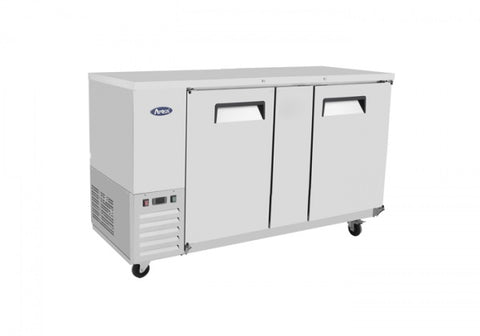 "ATOSA 69"" Back Bar Cooler, Stainless Steel Solid Door , 68Wx28Dx40H MBB69"