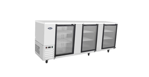 "ATOSA 90"" Back Bar Glass Door Cooler, 90Wx28Dx40H MBB90G"