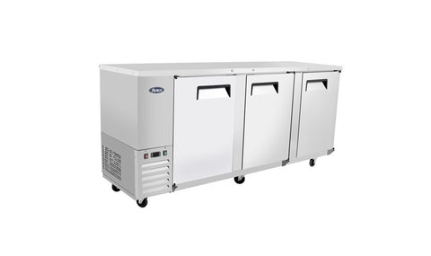 "ATOSA 90"" Back Bar Cooler, Stainless Steel Solid Door MBB90"