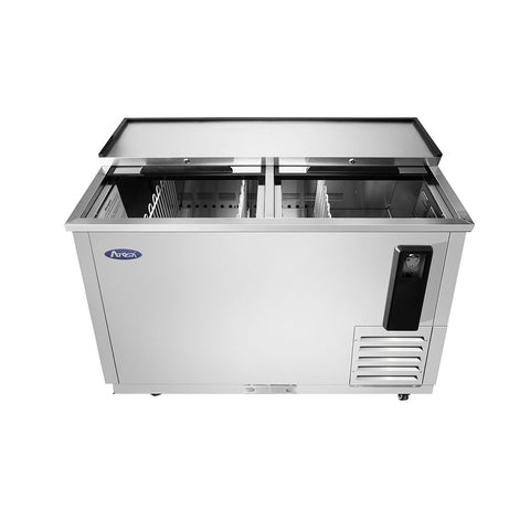 "ATOSA 50"" Bottle Cooler, All Stainless Steel, 28""x50""x37"" MBC50"
