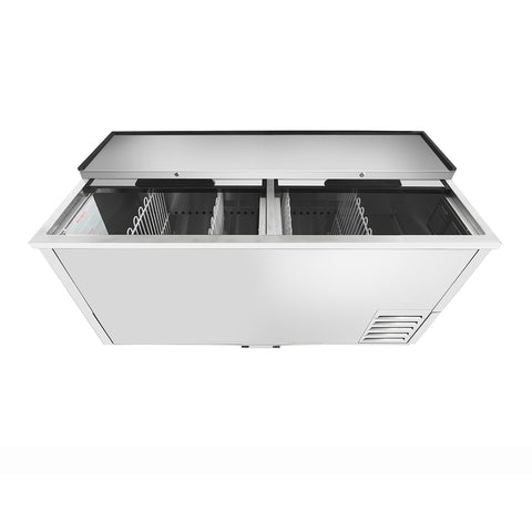 "ATOSA 65"" Bottle Cooler, All Stainless Steel, 65""x28""x37"" MBC65"