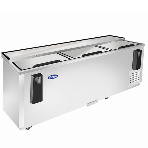 "ATOSA 80"" Bottle Cooler, All Stainless Steel, 81""x28""x37"" MBC80"