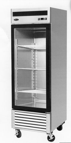ATOSA Freezer: 27-in Bottom Mount 1-Dr Glass Freezer MCF8701GR