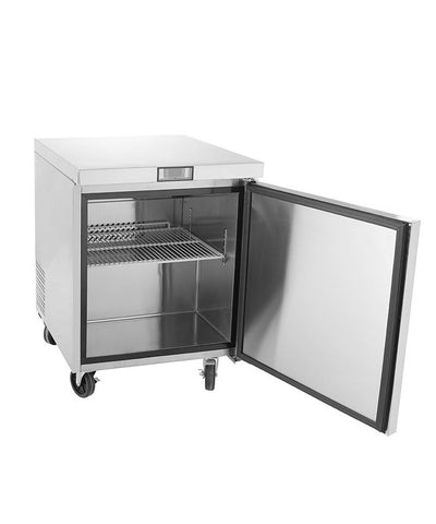 ATOSA Lowboy: 27-in Undercounter Refrigerator w/5-in Castors MGF8401GR