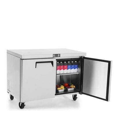 ATOSA Lowboy: 48-in Undercounter-Refrigerator w/5-in Castors