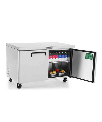 ATOSA Lowboy: 60-in Undercounter-Refrigerator w/5-in Castors