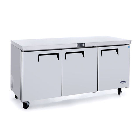 ATOSA Lowboy: 72-in Undercounter-Refrigerator w/5-in Castors MGF8404GR
