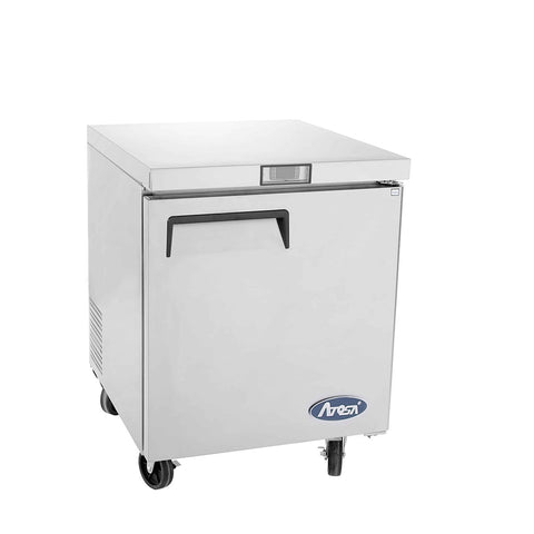 ATOSA Lowboy: 27-in Undercounter-Freezer w/5-in Castors