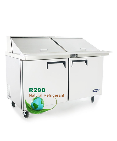 "ATOSA 60"" Mega-Top Bain Marie/Sandwich Prep Table MSF8307GR"