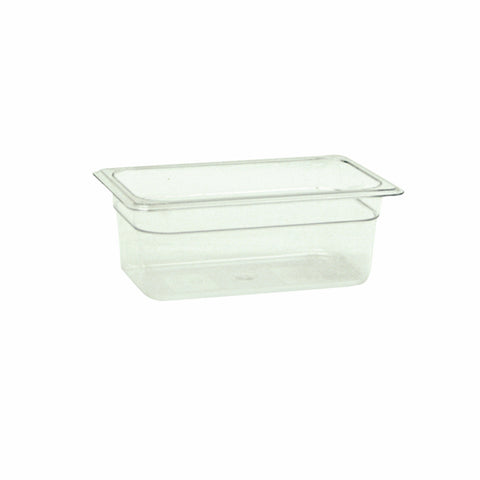 "Fourth-Size Poly Food Pan, 4"" Deep- Qty of 3 PLPA8144"