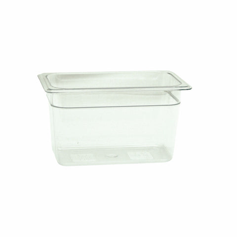 "Fourth-Size Poly Food Pan, 6"" Deep- Qty of 3 PLPA8146"