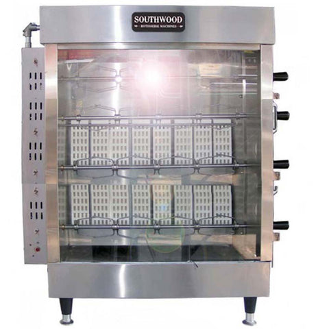 Southwood RG4 20-Chicken Gas (NG) Heavy-Duty Rotisserie Machine