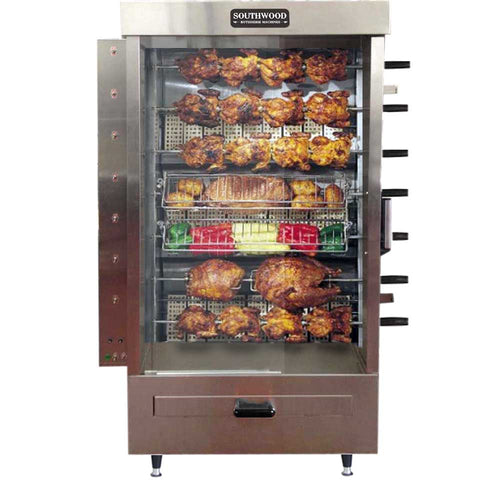 Southwood RG7 35-Chicken Gas Heavy-Duty Rotisserie Machine, NG/LP