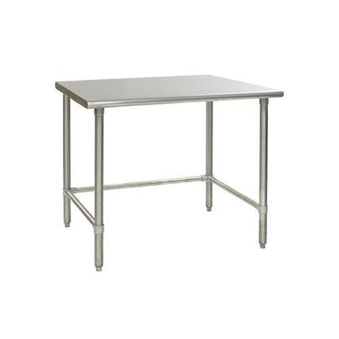 Stainless Steel Work/Prep Table w/Adj. Galv Crossbar