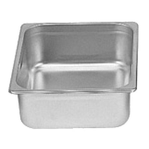 "Half-Size S/S Steam Pan, 4"" Deep- Quantity of 3 STPA9124"