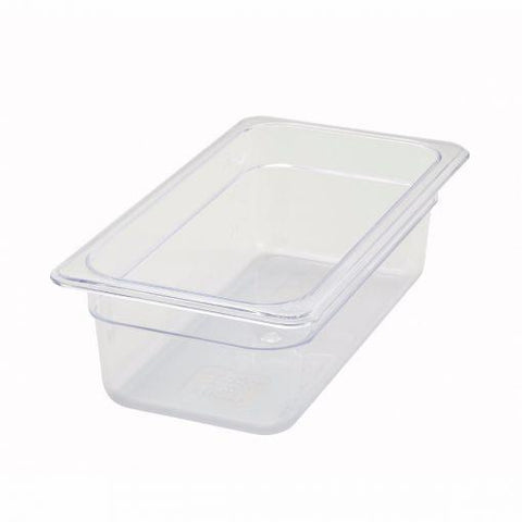 "Third-Size Poly Food Pan, 4"" Deep"
