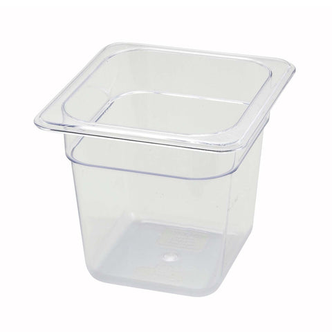 "Sixth-Size Poly Food Pan, 6"" Deep"