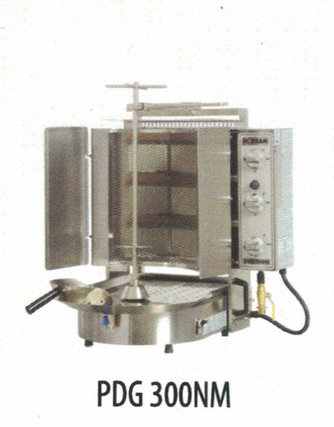 NASKONIX Gas Gyro Machine, 6-Burner, Wire Mesh PDG300NM