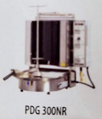NASKONIX Gas Gyro Machine, 6-Burner, Robax Glass PDG300NR